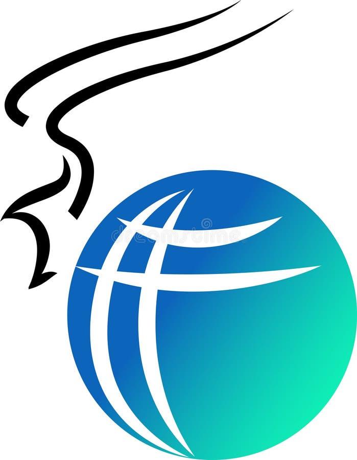 Logotipo do pássaro de vôo ilustração royalty free