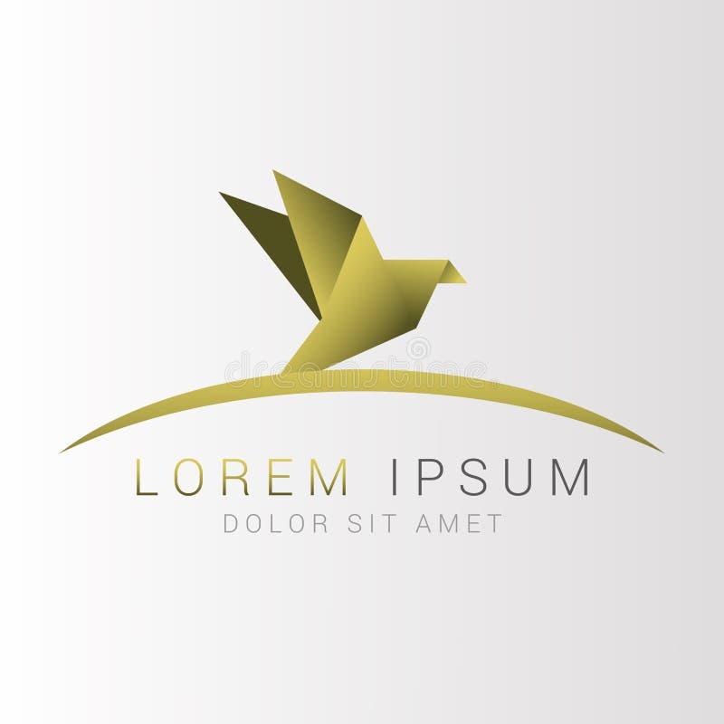 Logotipo do pássaro do origâmi Sumário Ilustração do vetor ilustração stock