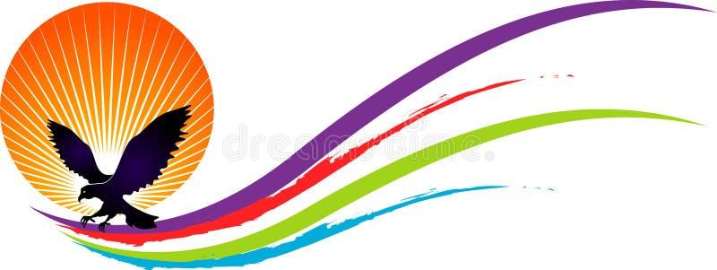Logotipo do pássaro do poder ilustração do vetor