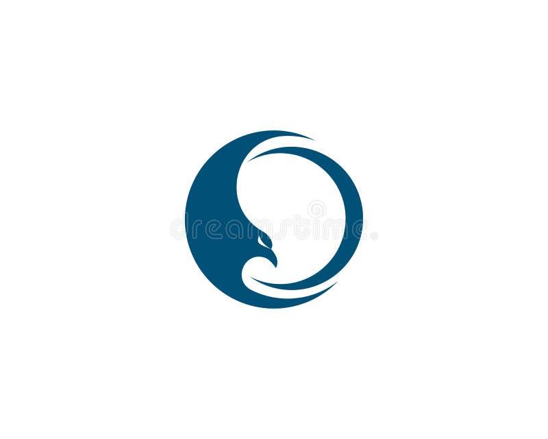Logotipo do pássaro do falcão ilustração do vetor