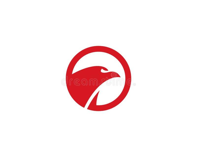 Logotipo do pássaro do falcão ilustração royalty free