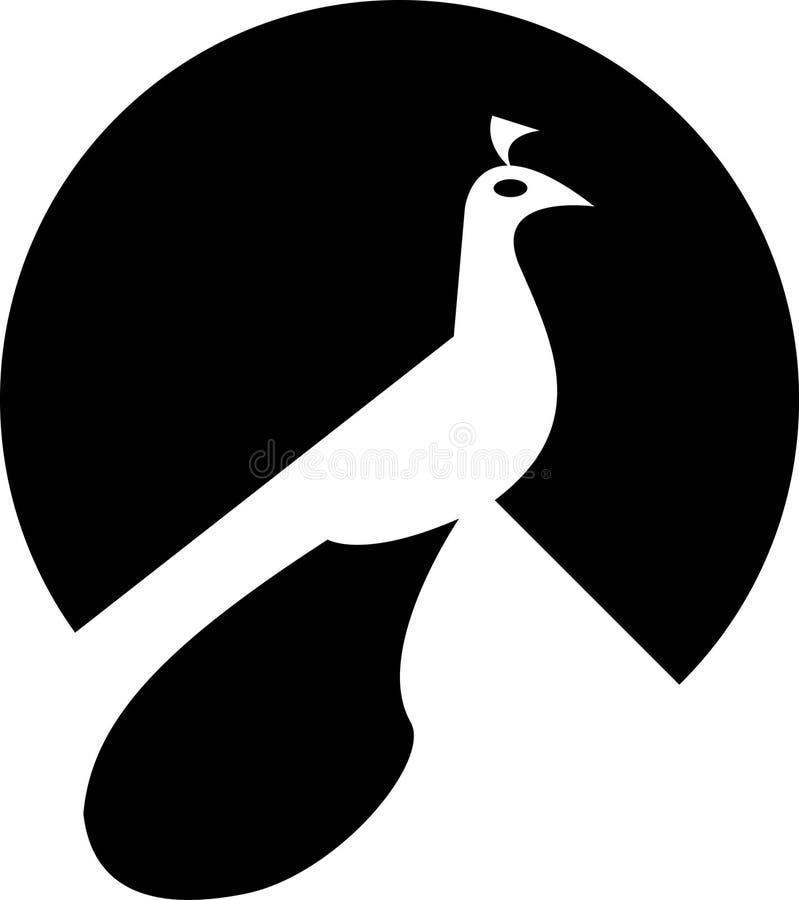 Logotipo do pavão ilustração do vetor