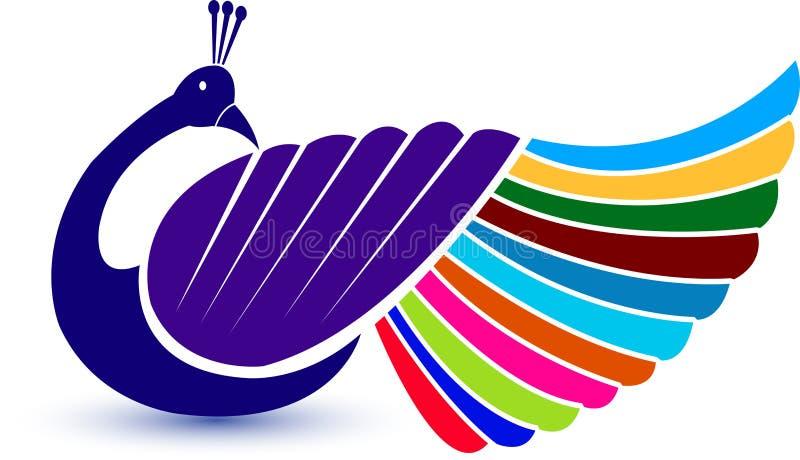 Logotipo do pavão ilustração stock
