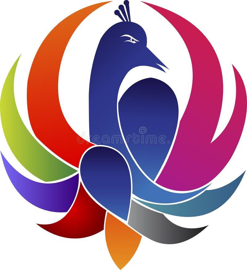 Logotipo do pavão ilustração royalty free