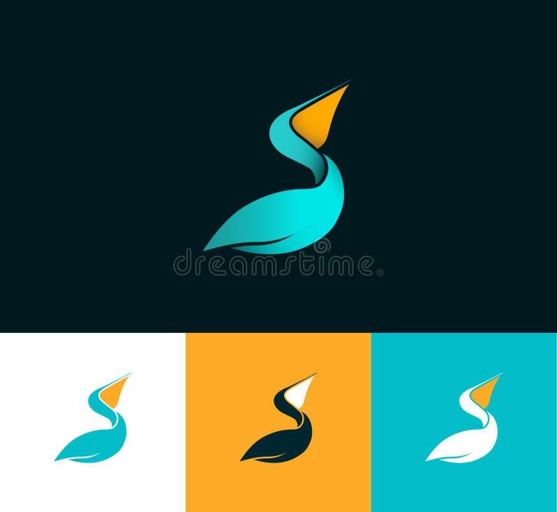Logotipo do pelicano ilustração royalty free
