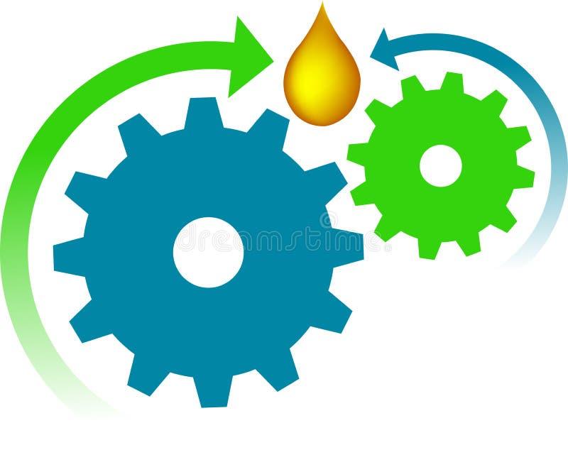 Logotipo do petróleo da engrenagem ilustração royalty free