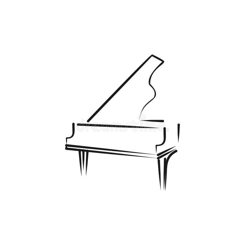 logotipo do piano ilustração stock