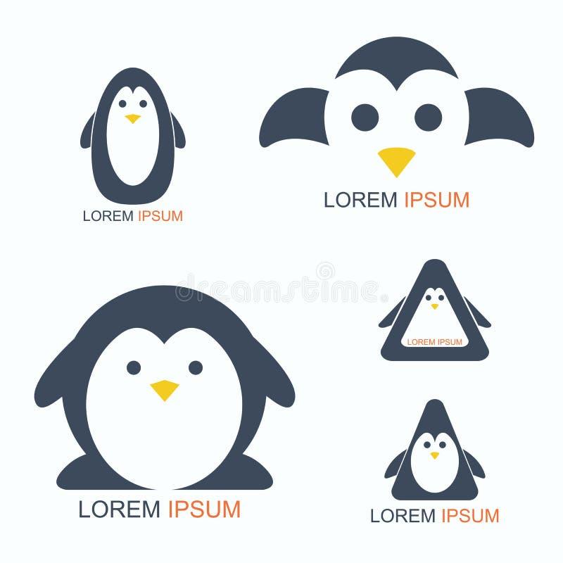 Logotipo do pinguim ilustração royalty free