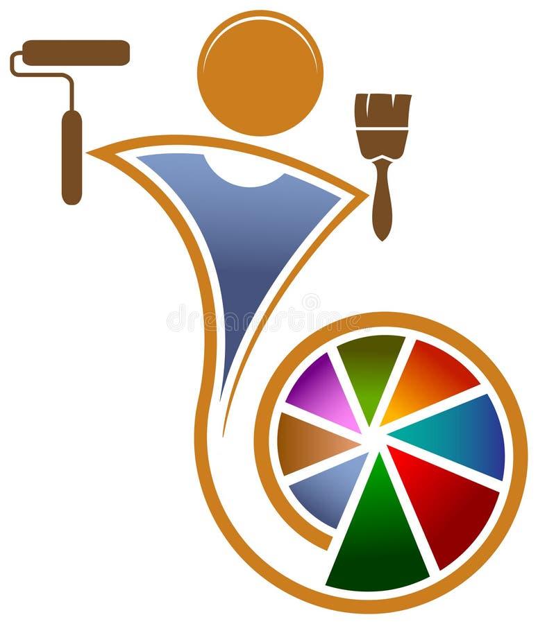 Logotipo do pintor ilustração do vetor