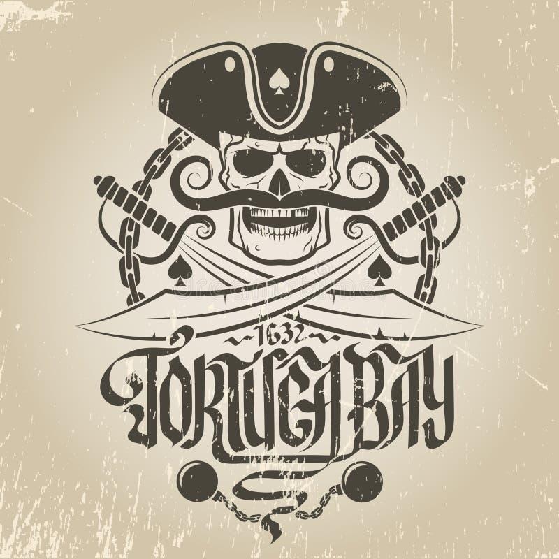 Logotipo do pirata ilustração do vetor