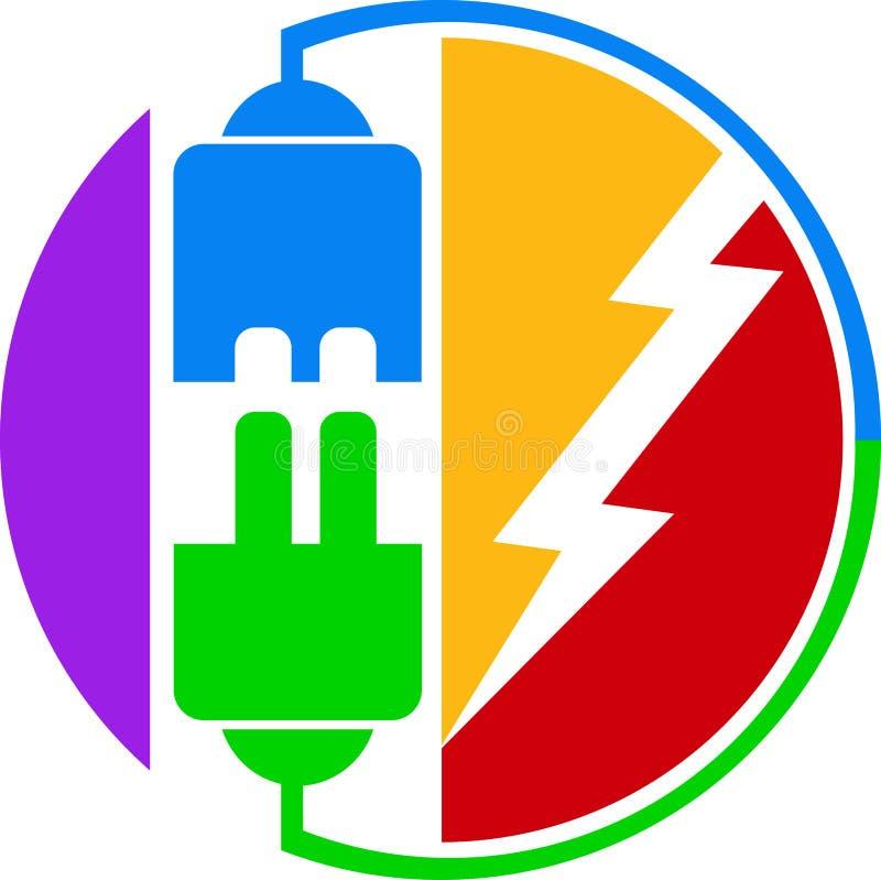 Logotipo do plugue de potência ilustração do vetor