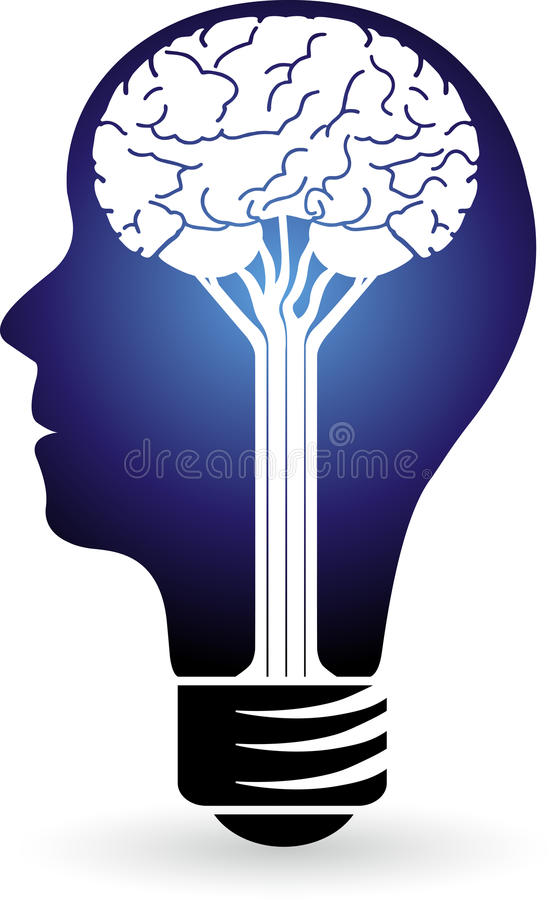 Logotipo do poder da lâmpada ilustração stock