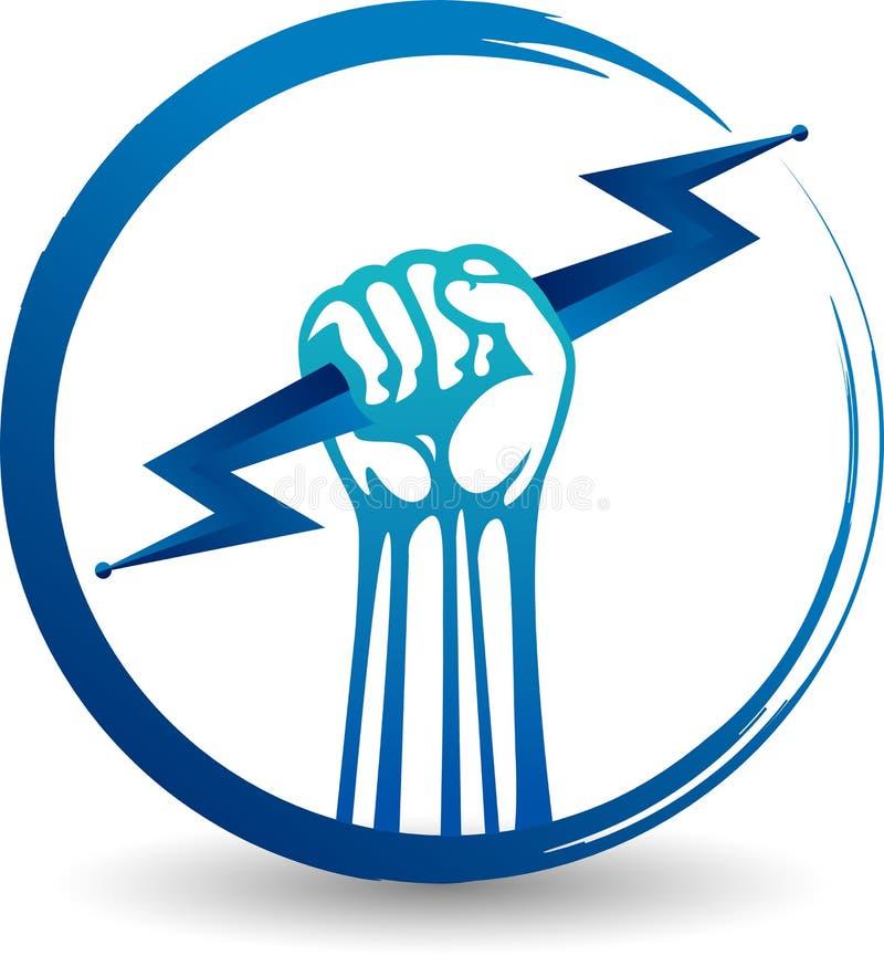 Logotipo do poder da mão ilustração do vetor