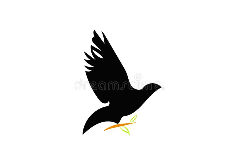 Logotipo do pombo ilustração do vetor