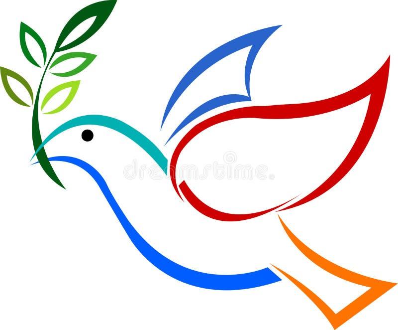 Logotipo do pombo ilustração royalty free