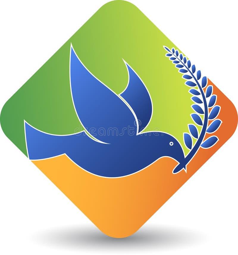 Logotipo do pombo ilustração stock