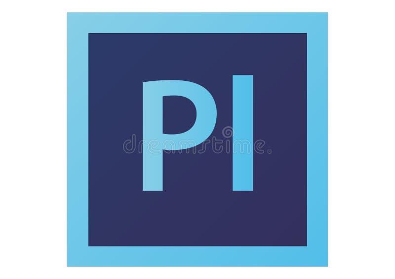 Logotipo do prelúdio CS6 de Adobe ilustração stock