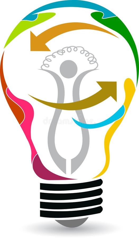 Logotipo do projeto da lâmpada ilustração royalty free
