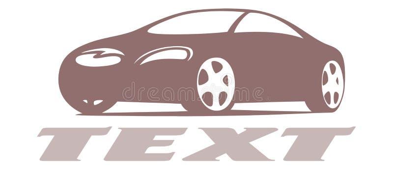 Logotipo do projeto do carro ilustração stock