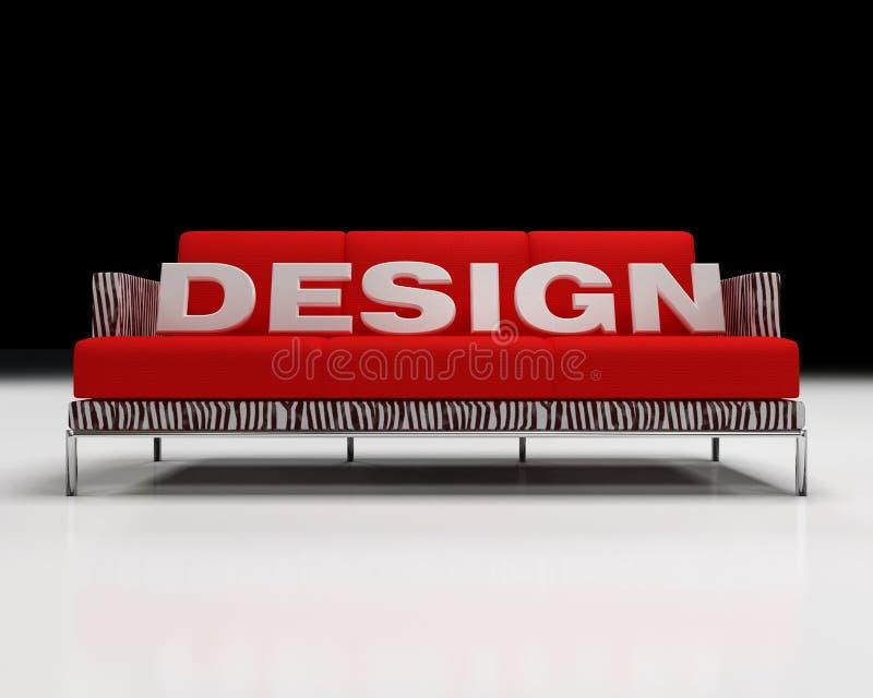Logotipo do projeto no sofá ilustração stock