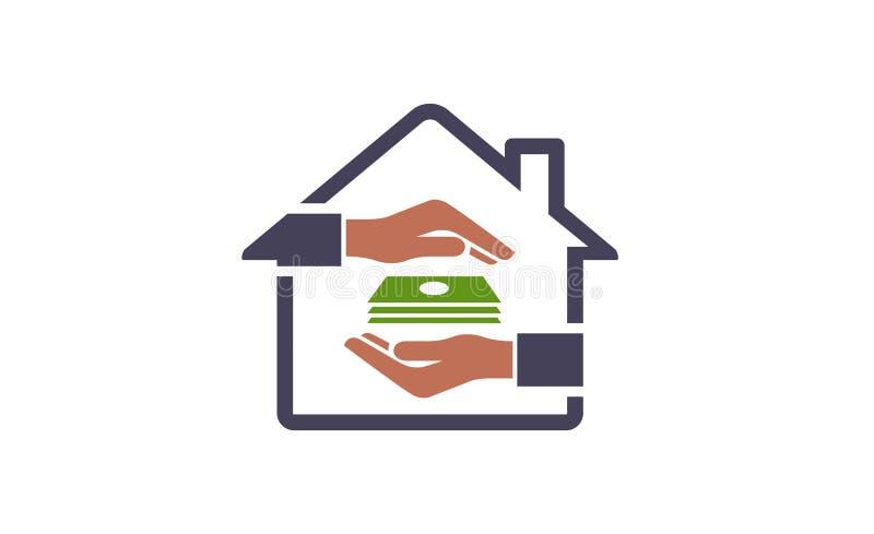 Logotipo do projeto do símbolo do negócio das vendas home ilustração royalty free