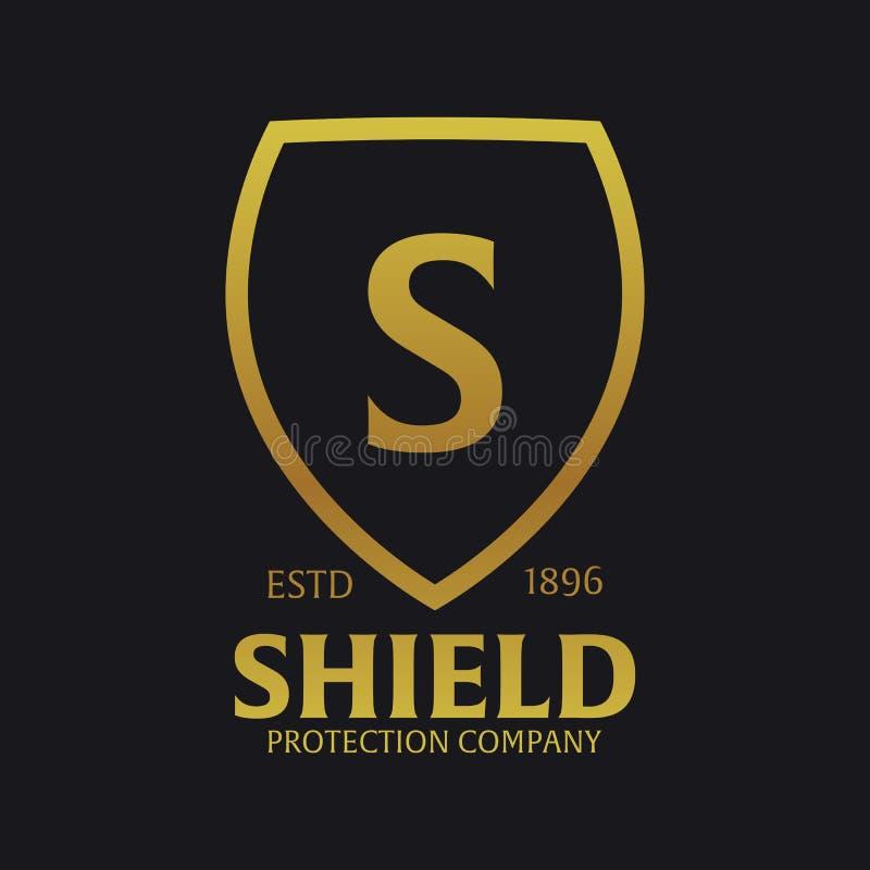 Logotipo do protetor Empresa da proteção segurança guardian Ilustração do vetor ilustração stock