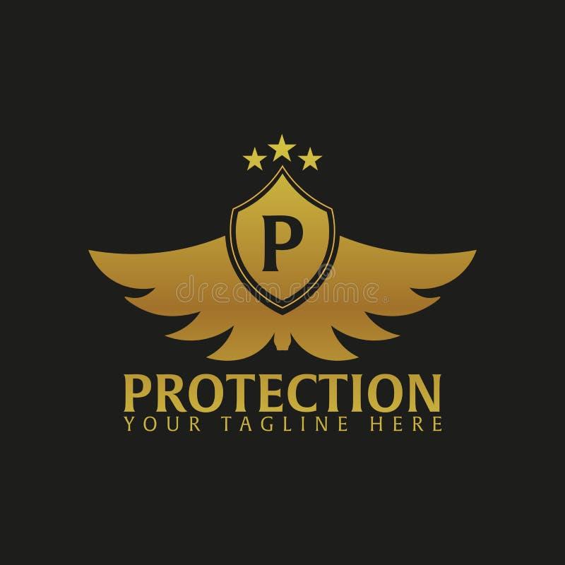 Logotipo do protetor Empresa da proteção segurança guardian Ilustração do vetor ilustração royalty free