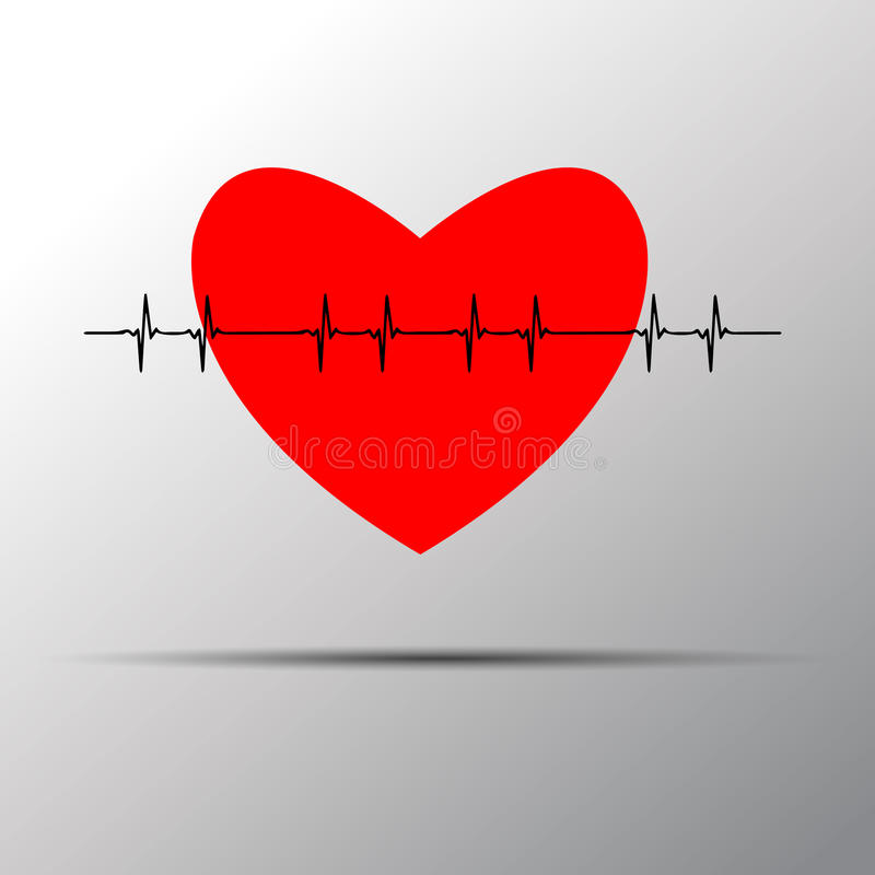 Logotipo do pulso do coração Logotipo médico da saúde ilustração royalty free