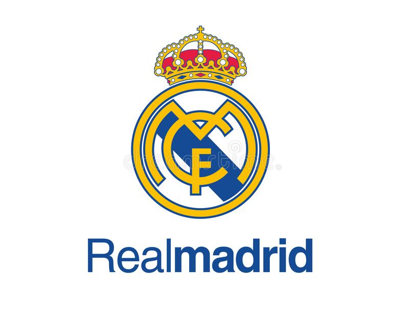 Logotipo do Real Madrid ilustração stock