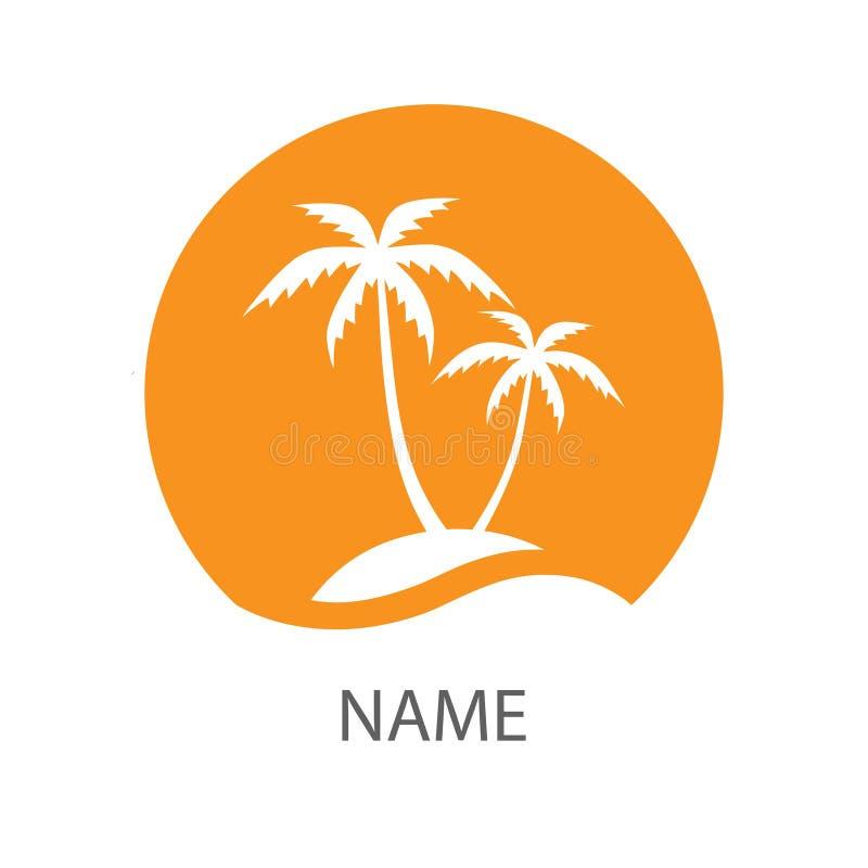 Logotipo do recurso no círculo ilustração royalty free