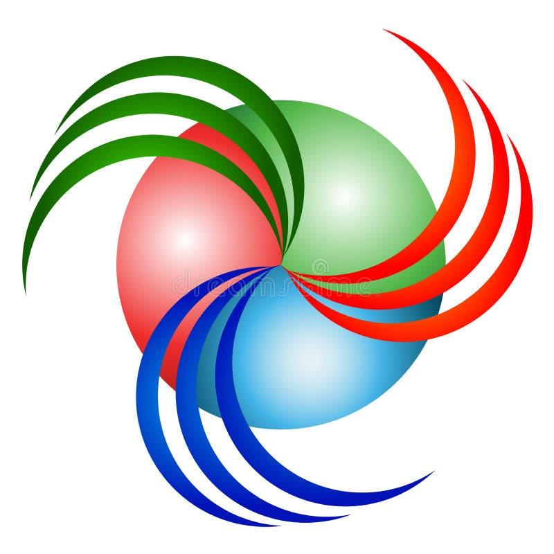 Logotipo do redemoinho ilustração stock
