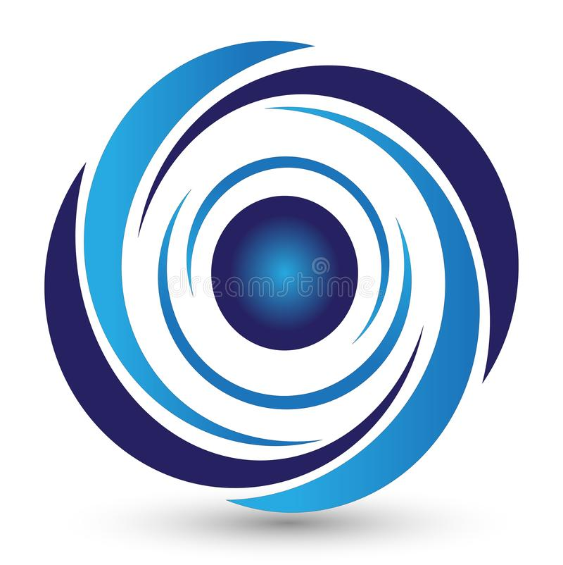 Logotipo do redemoinho na terra traseira branca ilustração royalty free
