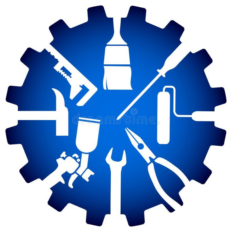 Logotipo do reparo da casa ilustração stock