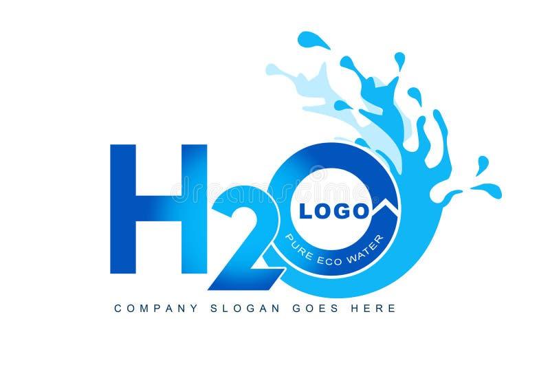 Logotipo do respingo da água ilustração royalty free