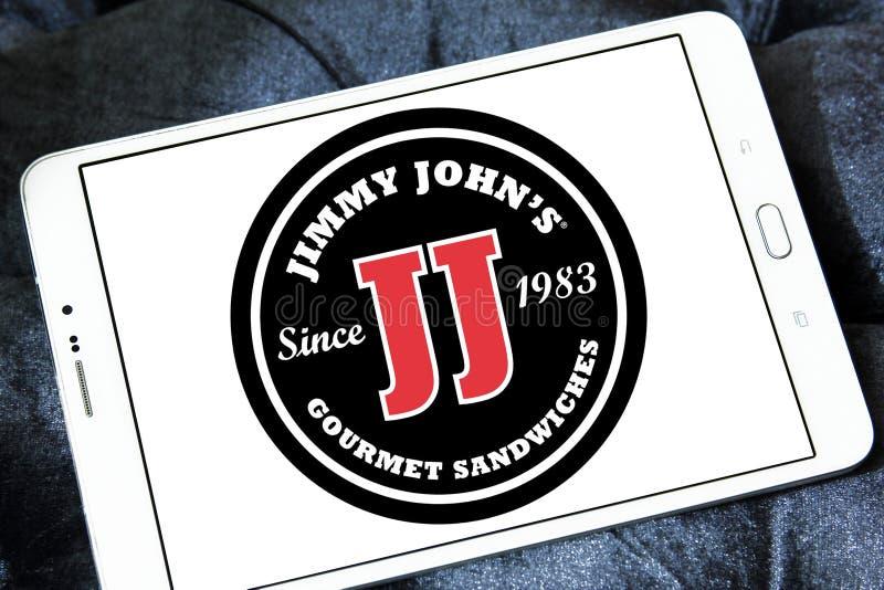 Logotipo do restaurante do sanduíche do ` s de Jimmy John imagens de stock