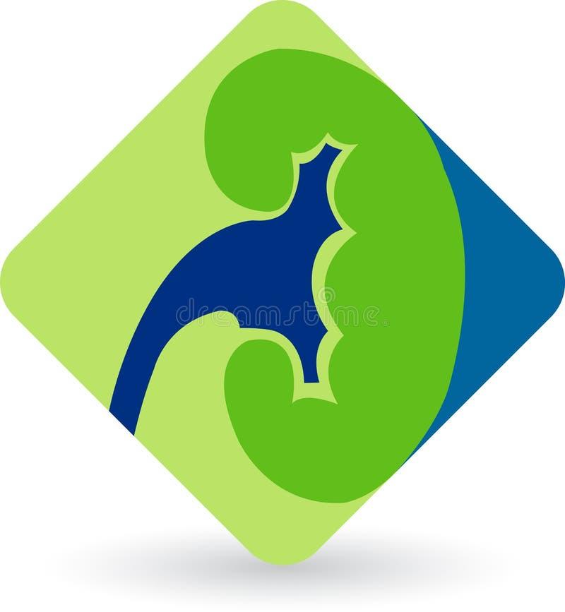 Logotipo do rim ilustração do vetor