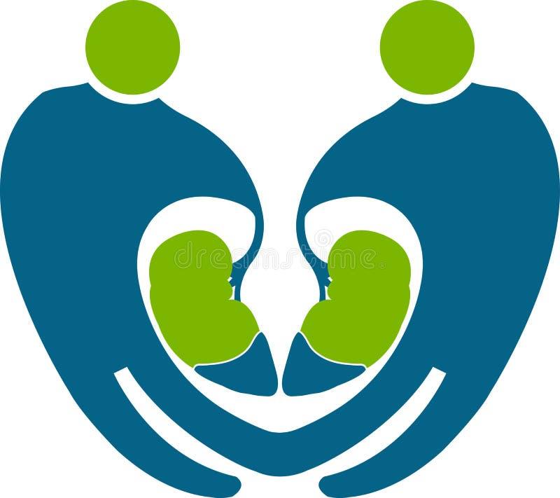 Logotipo do rim dos povos ilustração do vetor