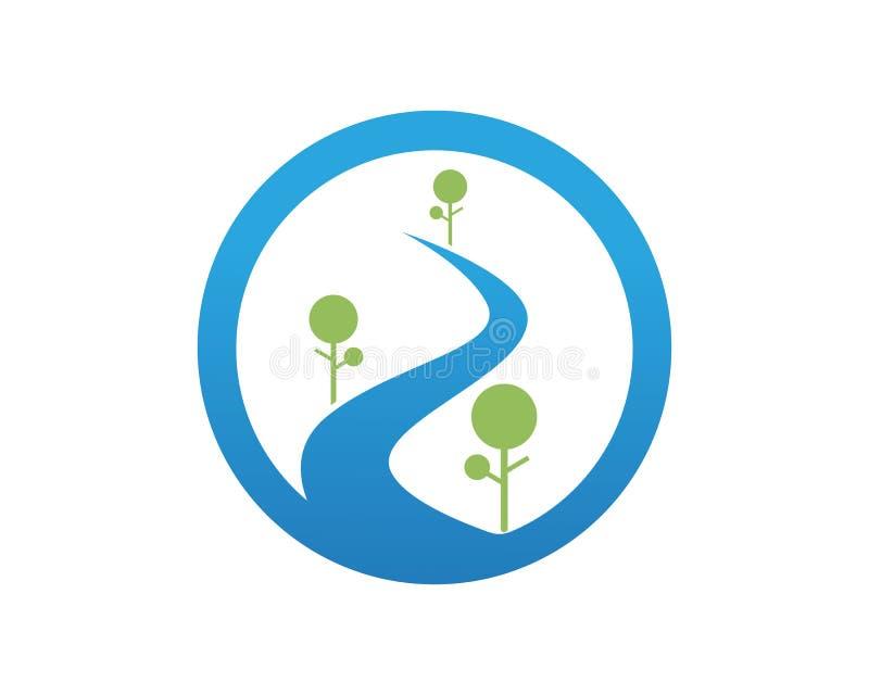 Logotipo do rio e molde app dos ícones dos símbolos ilustração royalty free