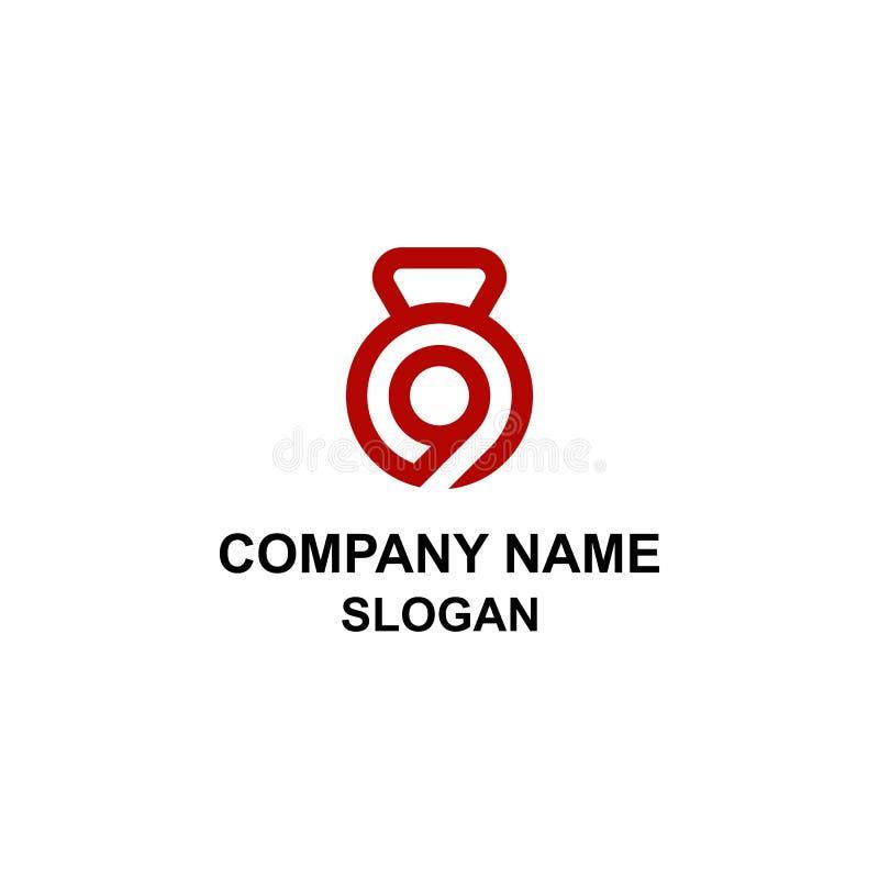 Logotipo do símbolo da aptidão nove ilustração stock