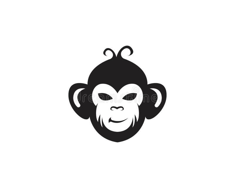 Logotipo do símbolo do macaco e símbolo ilustração do vetor