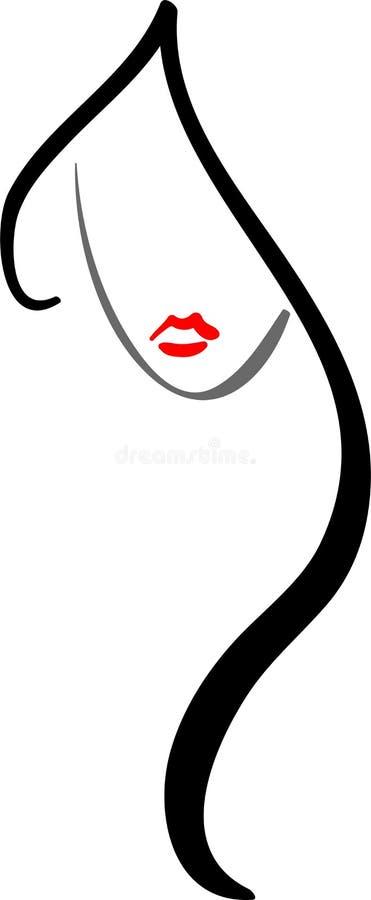 Logotipo do salão de beleza de cabelo ilustração royalty free