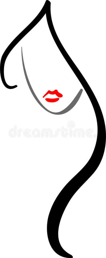 Logotipo do salão de beleza de cabelo