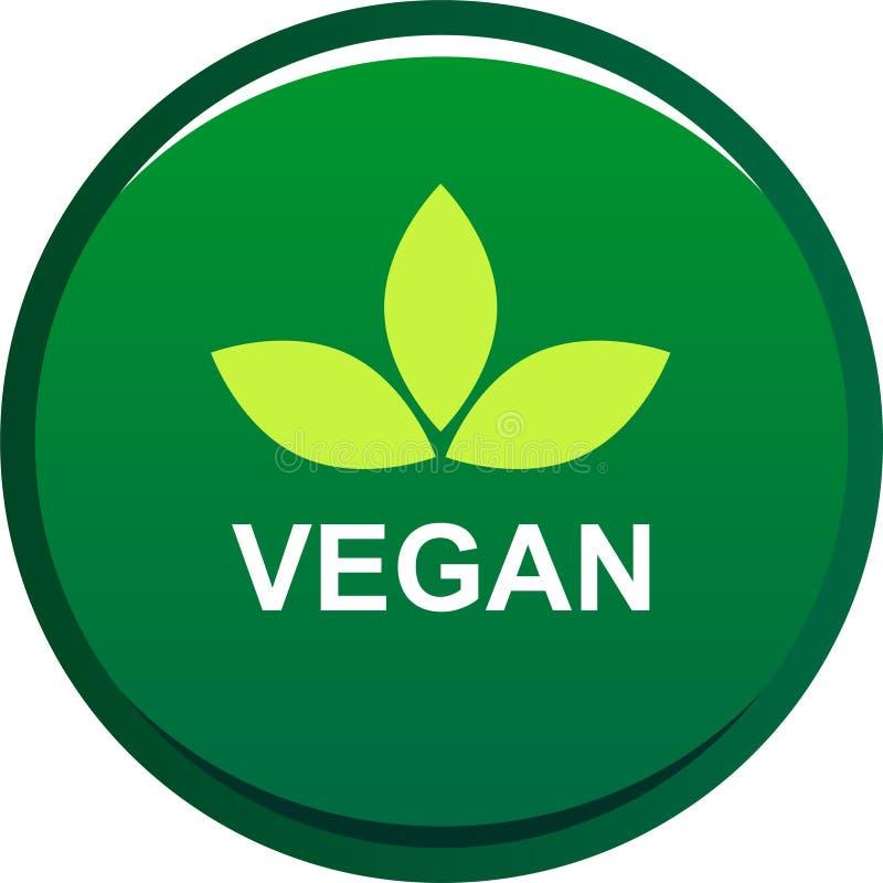 Logotipo do selo do selo do alimento do vegetariano ilustração do vetor