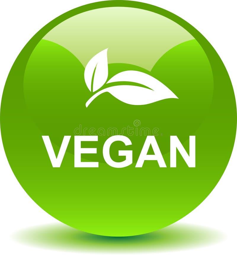 Logotipo do selo do selo do vegetariano ilustração royalty free