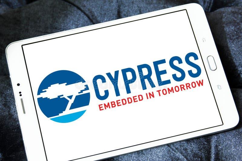 Logotipo do semicondutor de Cypress imagem de stock