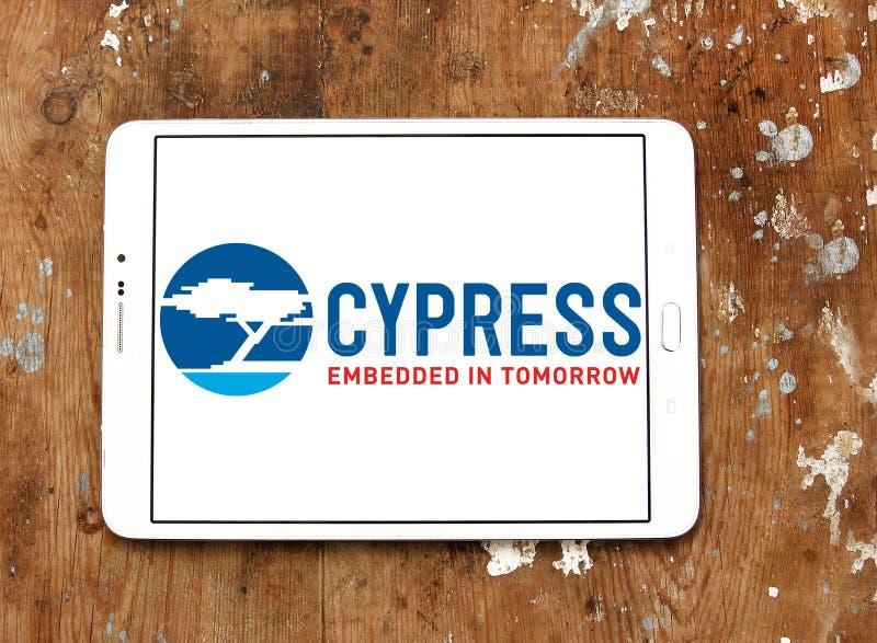 Logotipo do semicondutor de Cypress imagens de stock