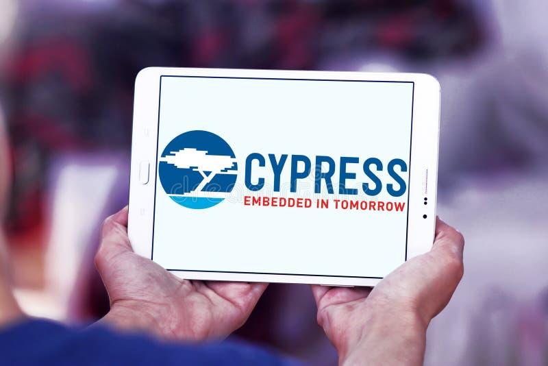 Logotipo do semicondutor de Cypress foto de stock royalty free