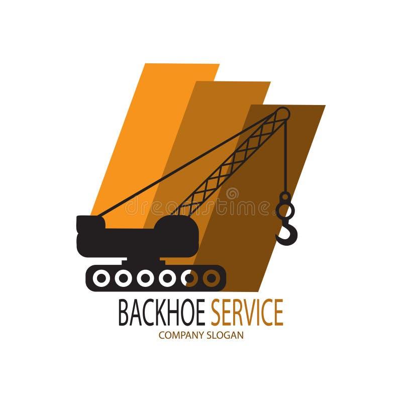 Logotipo do serviço do Backhoe ilustração royalty free