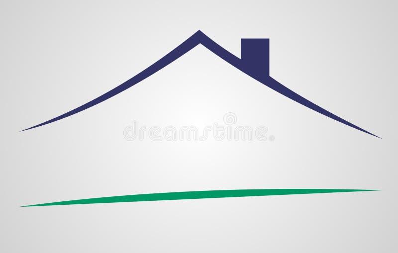 Logotipo do sinal da casa ilustração royalty free