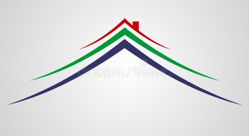 Logotipo do sinal da casa ilustração stock